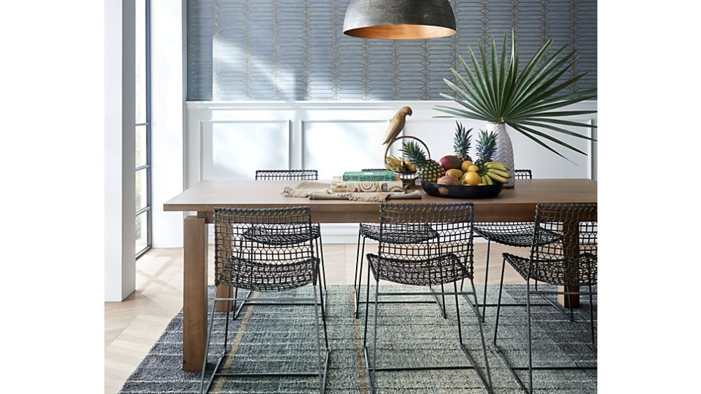 Tig Metal Dining Chair Crate And Barrel In 2020 Metal Dining Chairs Dining Table Dining Chairs