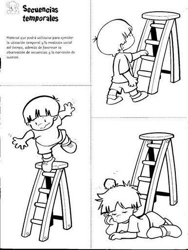 Resultado De Imagen Para Dibujos De Prevencion De Accidentes Para Colorear Para Niños Secuencias Temporales Secuencias De Imagenes Serie Temporal