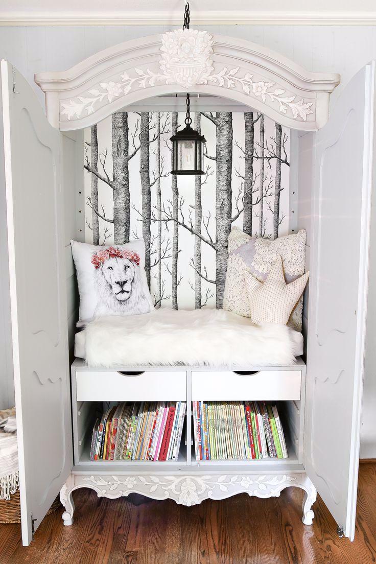 DIY Narnia Kleiderschrank Leseecke,  #DIY #farmhousedecorfixerupper #Kleiderschrank #Leseecke #Narnia
