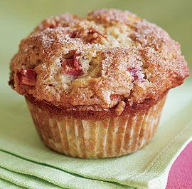 Cinnamon-Rhubarb muffins