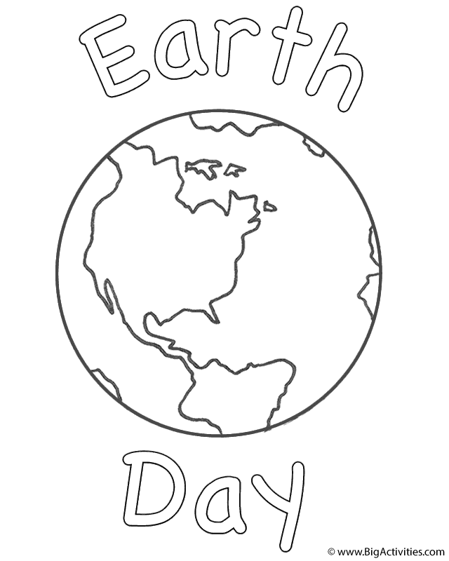 Planet Earth With Earth Day Coloring Page Earth Day Earth Day Coloring Pages Earth Coloring Pages Planet Coloring Pages