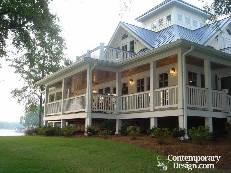 Ranch Style House With Wrap Around Porch Contemporary Design Southern House Plans Southern Cottage Cottage House Plans