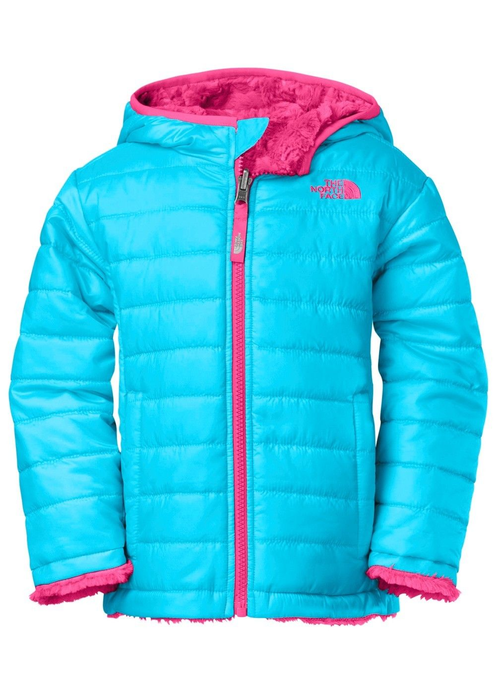040b9b587b59 The North Face Toddler Reversible Mossbud Swirl Jacket (Turquoise Blue)  Kids (Ages 0-8)