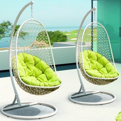Swing Chair Wayfair Wrought Iron And Glass Dining Table Chairs Encounter With Stand To Buy For House Swinging Modway Reviews