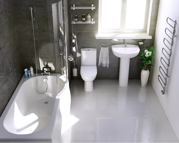 The Tavistock Micra Space Saving Showerbath Suite Is Ideal For Smaller Bathroom Spaces This Sui Cheap Bathroom Suites Bathroom Suites Uk Space Saving Bathroom