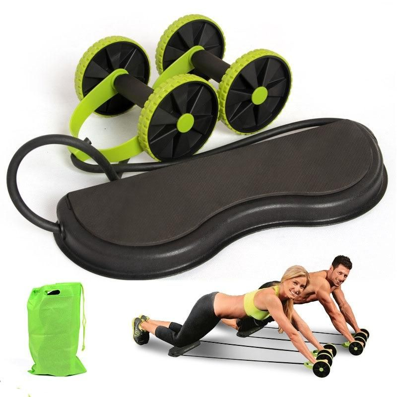 Dual ABS Abdominal Waist Roller Wheel Gym Exerciser Fitness Workout Exercise