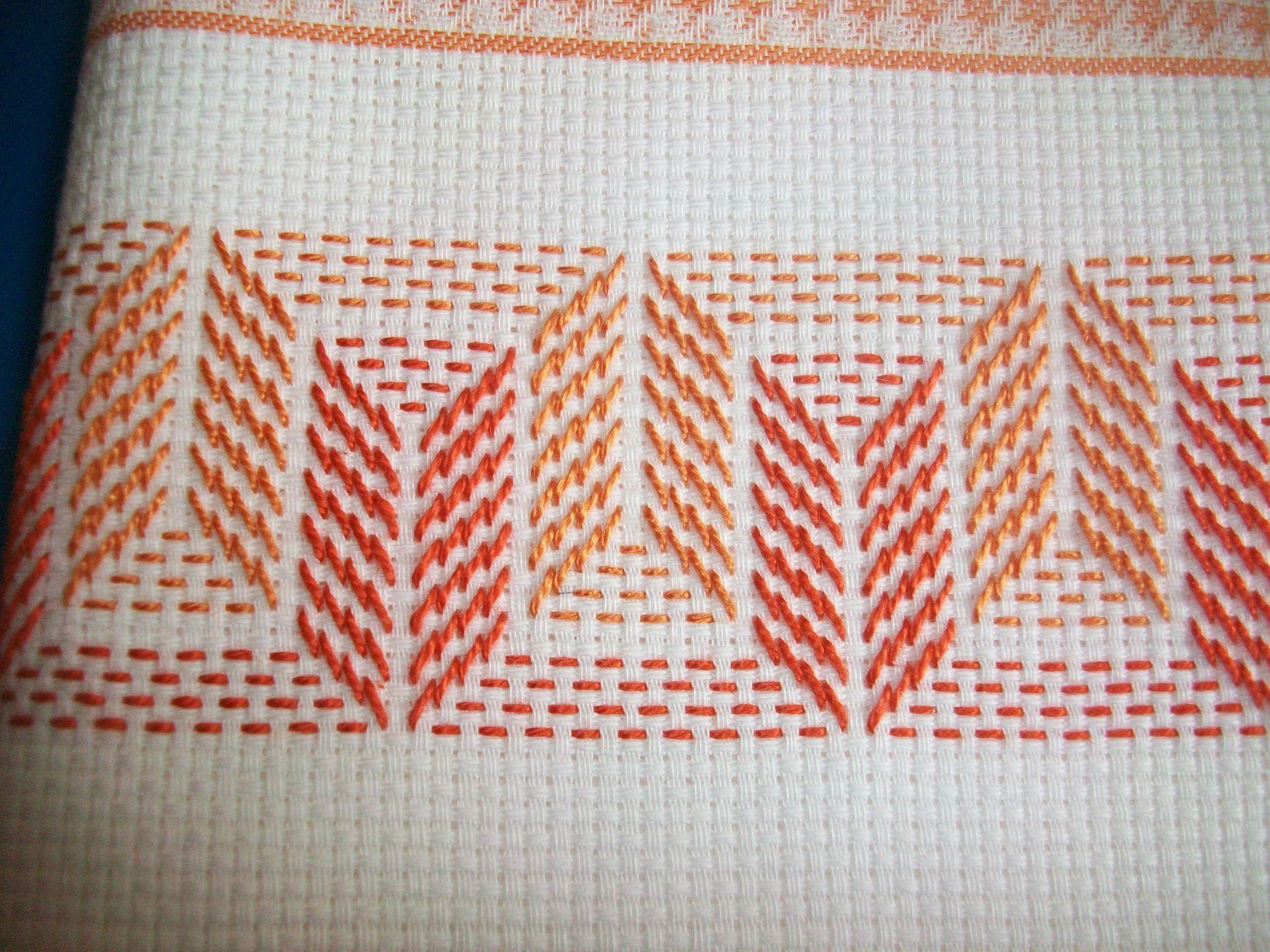Bordado yugoslavo - vagonite - huck sweadish embroidery | mis puntos ...