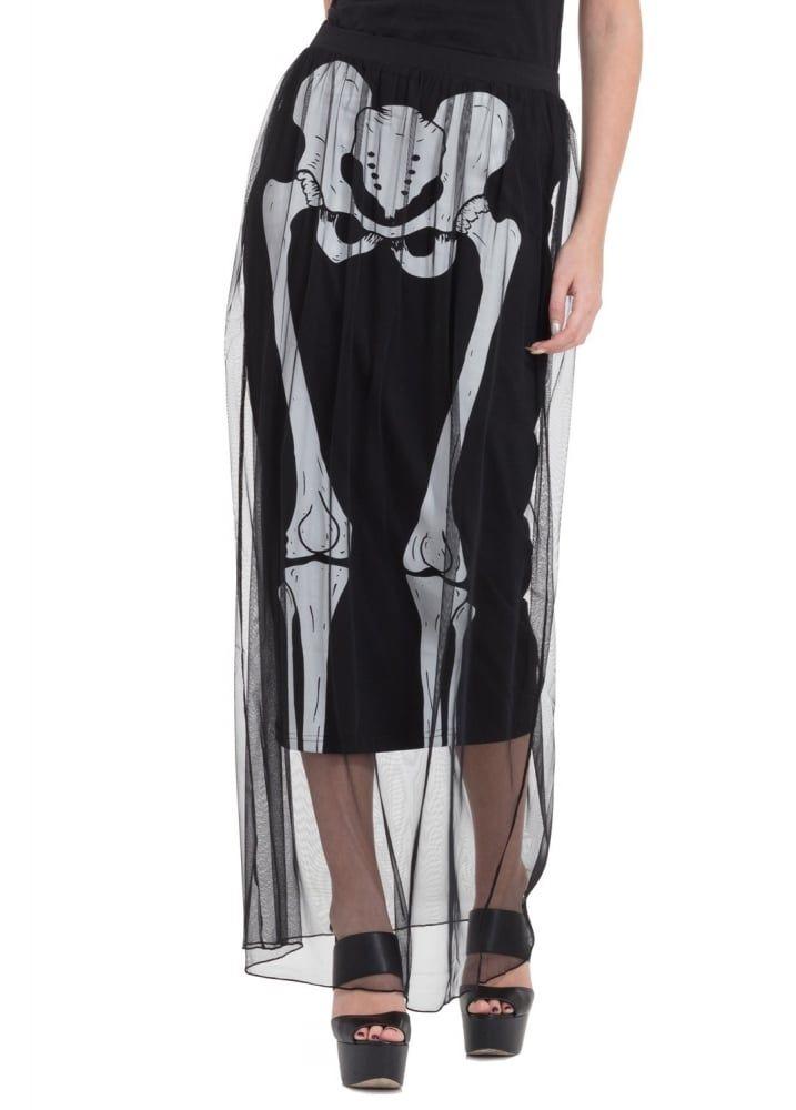 Jawbreaker Clothing Skeleton Layer Skirt