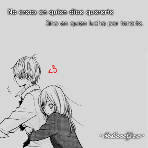 Anime Frases Anime Frases Sentimientos Shuoumagcrow Amor V