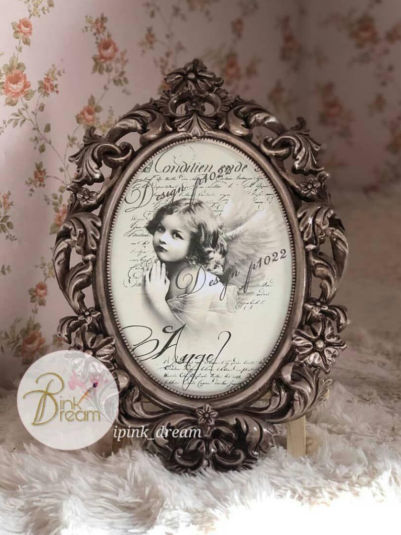 إطار إطارات لوحة لوحات برواز تعتيق ديكوباج Frame Decoration Decoupage Hand Made Antique Frame Decor Home Decor