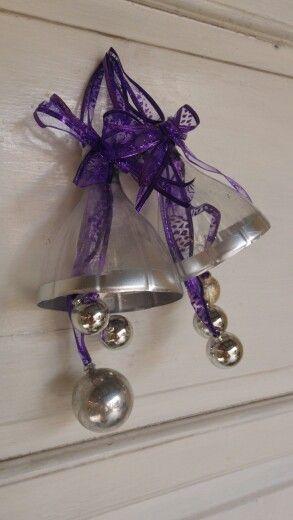Campanas para navidad hechas de botellas de plastico - Campanas de navidad ...