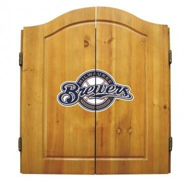 The Milwaukee Brewers Dart Board Cabinet With Dartboard Darts Scoreboard Eraser And Chalk By Imperial Usa With Images Dart Board Detroit Red Wings Dart Board Cabinet