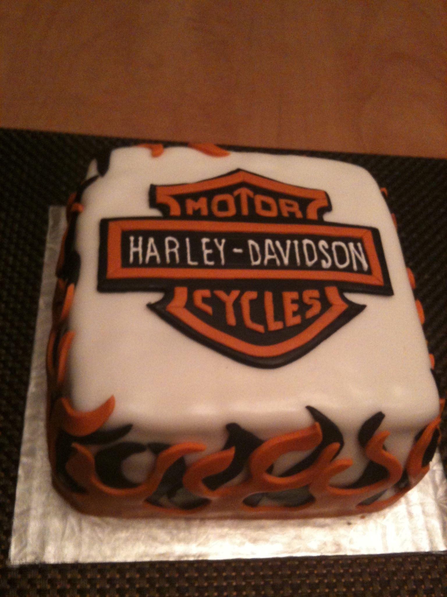 Harley Davidson Cake Baking Motorcycle Cake Harley
