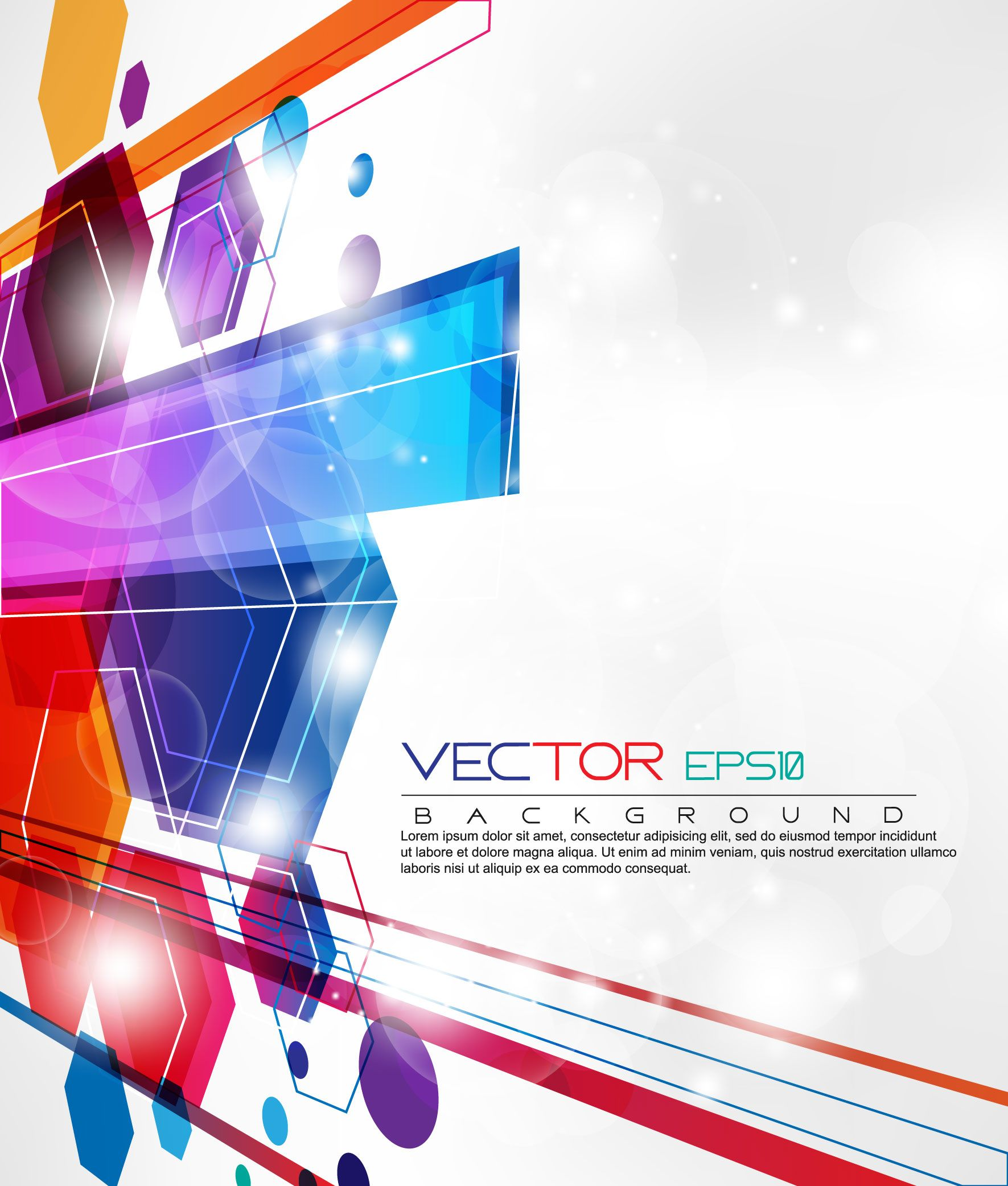 free vector Dynamic set of abstract elements 03 vector | Ideas ...