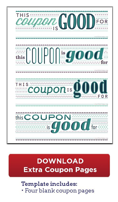 Coupon Book DownloadUsing to put family time coupons (ie - coupon template download