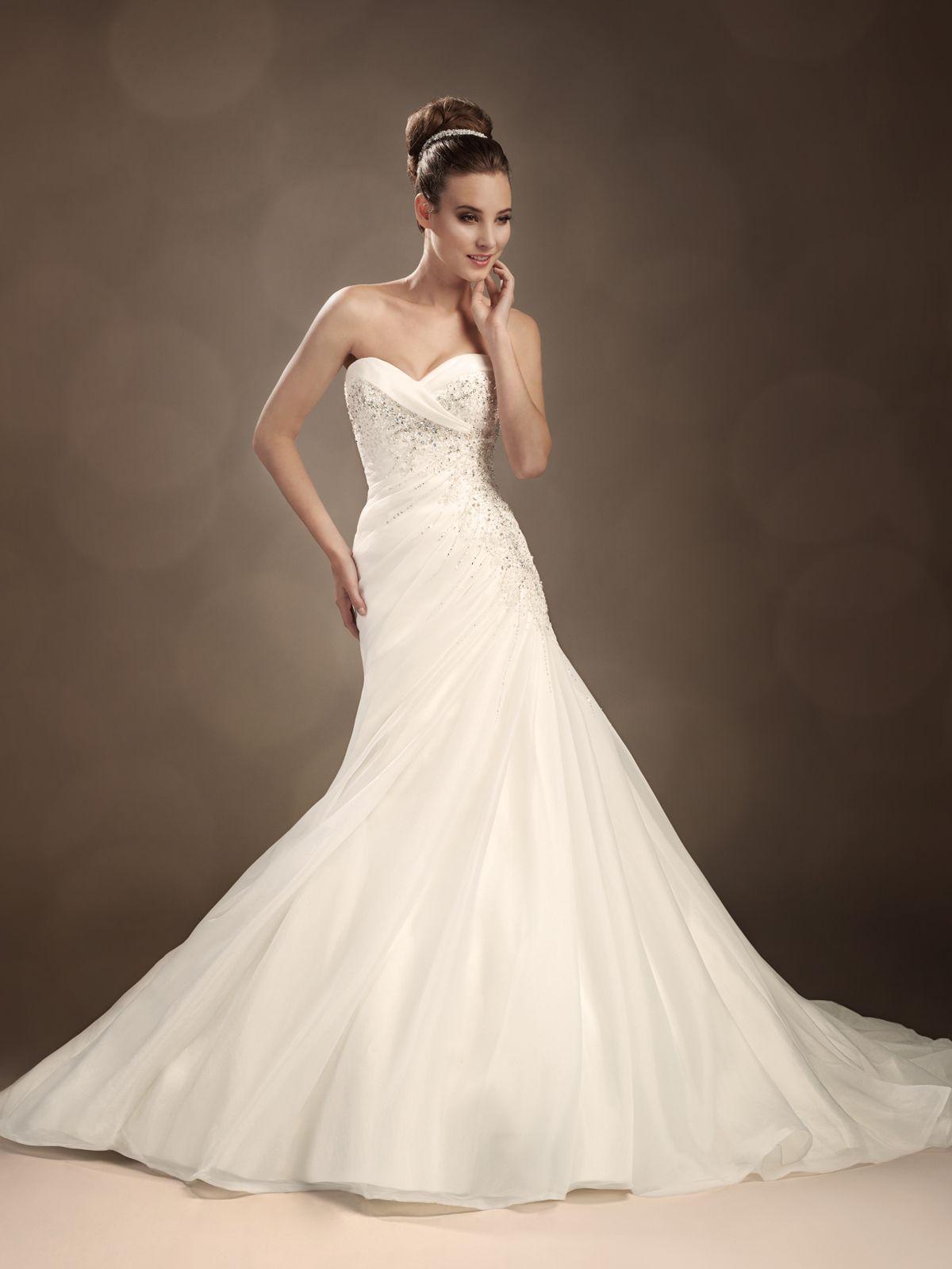Strapless Mermaid Lace Wedding Dress Miami