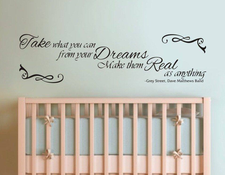 Lyric bartender dave matthews lyrics : Vinyl Wall Decal - Dave Matthews Band, Take What You Can from Your ...