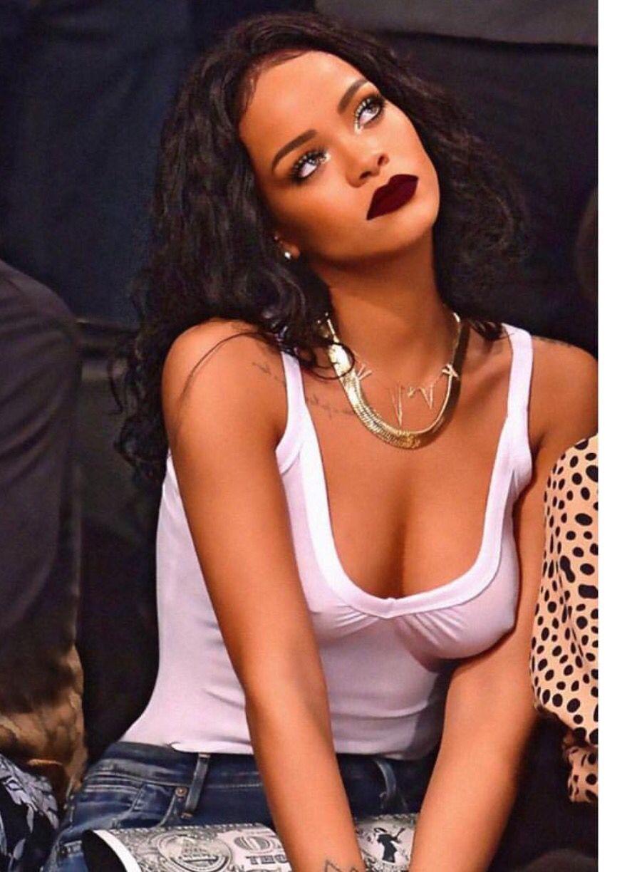 Exclusive Rihanna lip color . . .