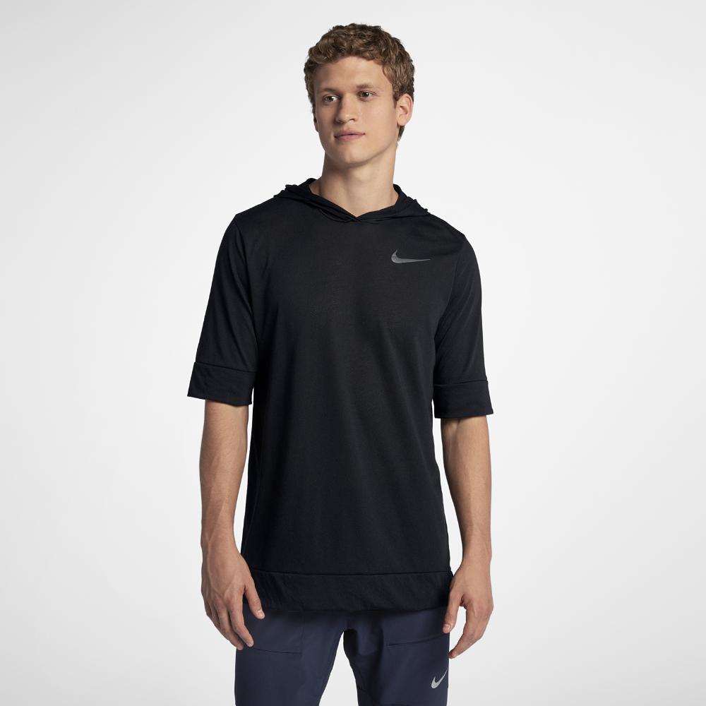 9620370fe2a1 Nike Tailwind Men s Short Sleeve Running Hoodie Size Medium (Black ...