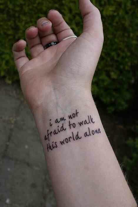 Famous last words tattoo