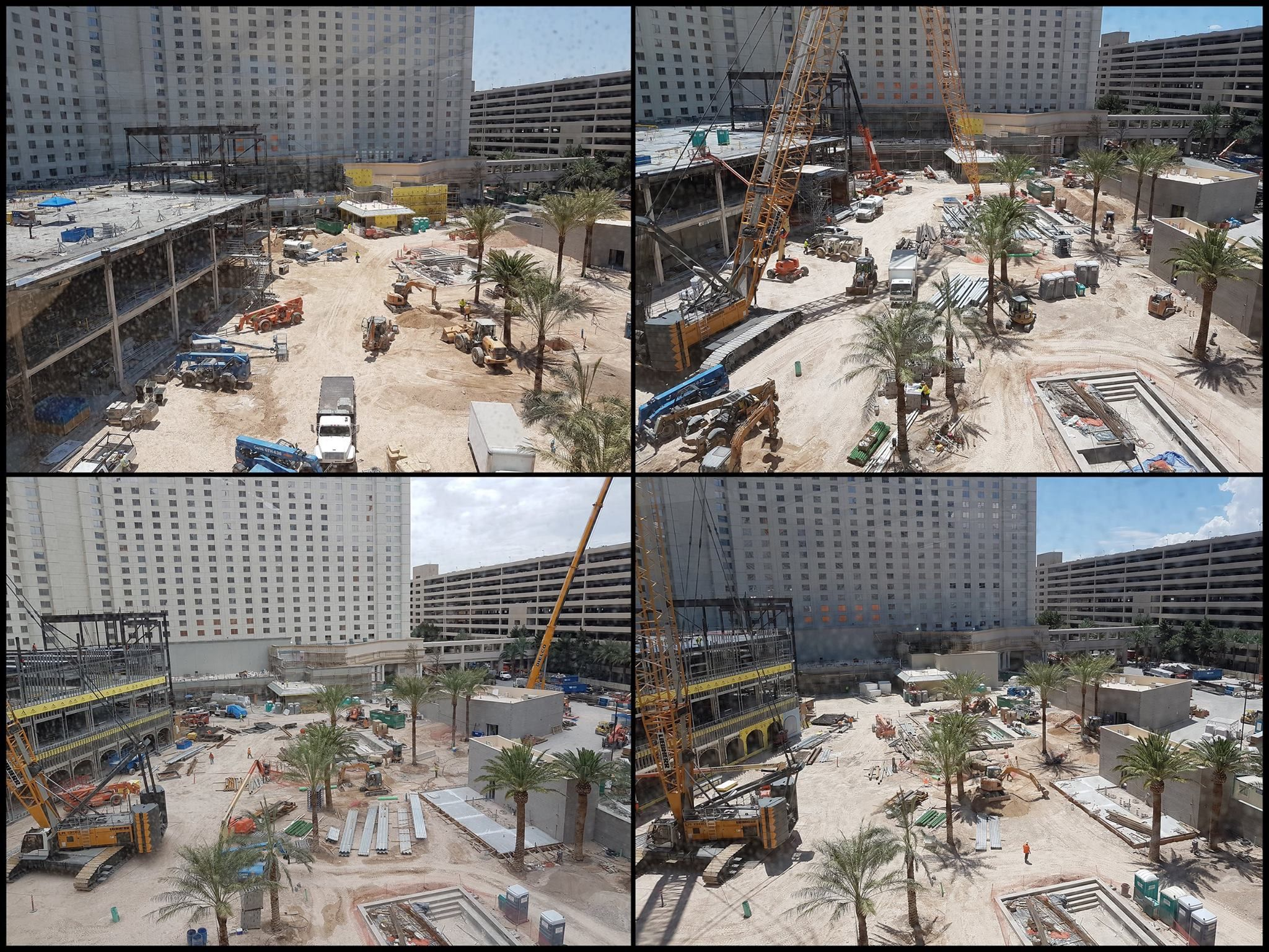 Vegas bright Monte Carlo construction photos as it becomes