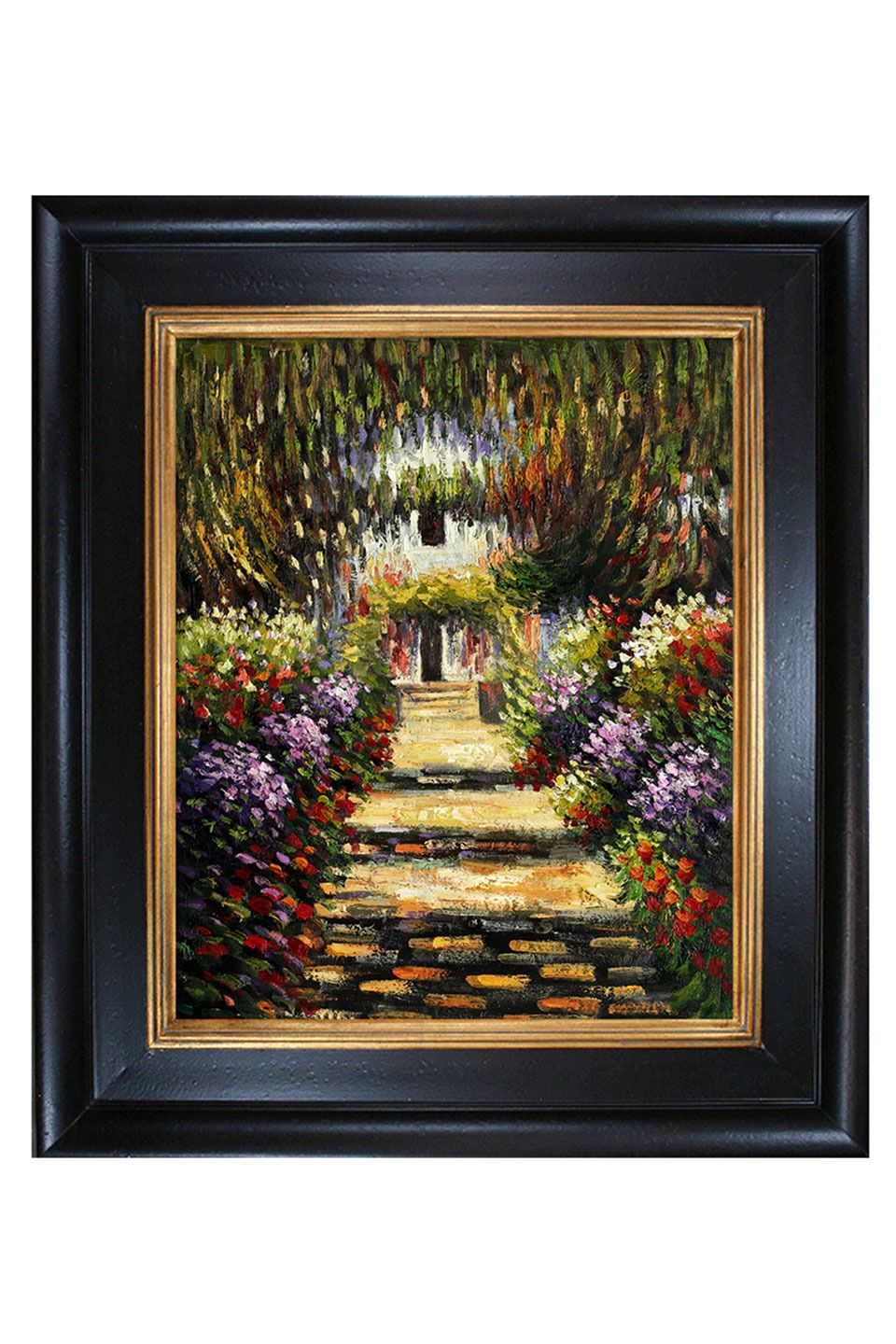 Claude Monet Garden Path At Giverny, Oil Painting - Beyond the Rack ...