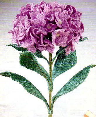 Originales flores a crochet