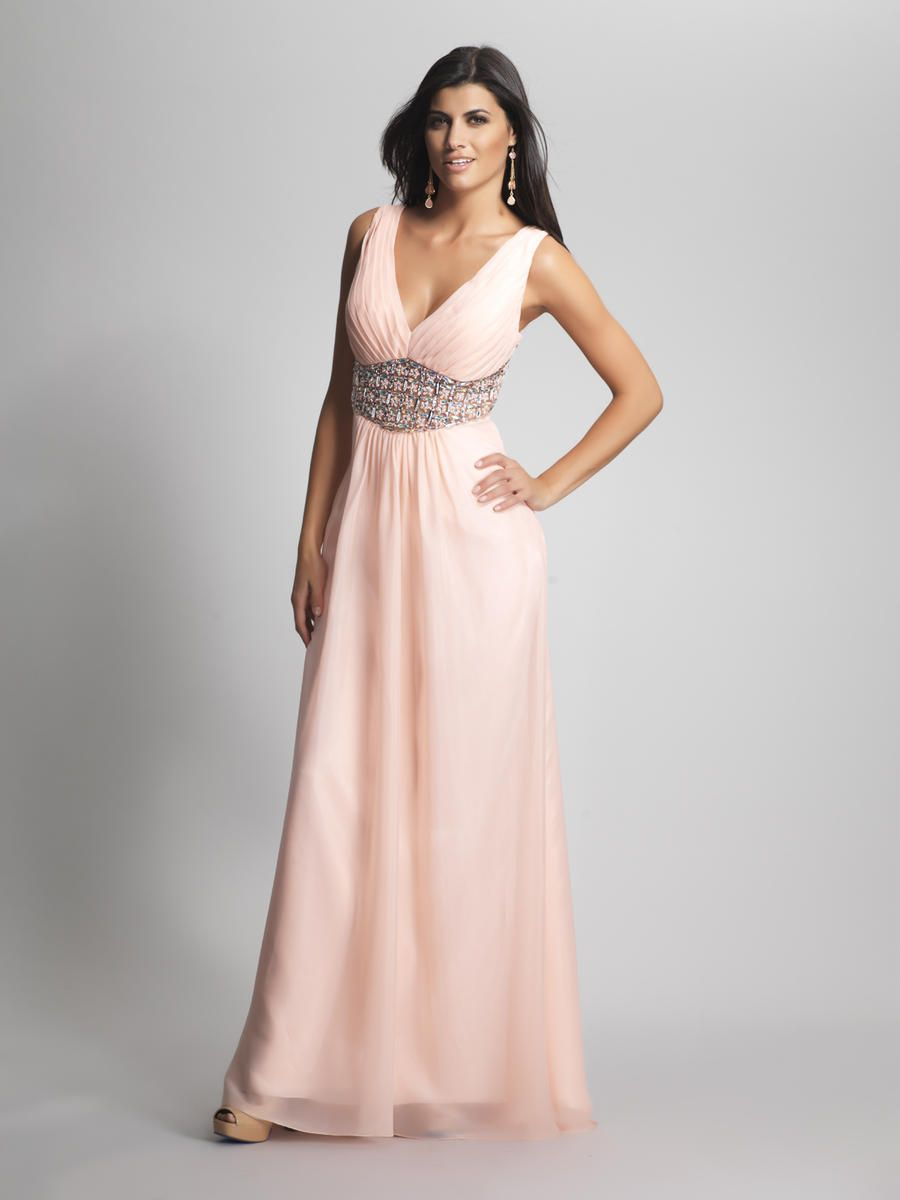 Low V Neck Beaded Pink Bridesmaid Dress 2013 | My Future Wedding ...