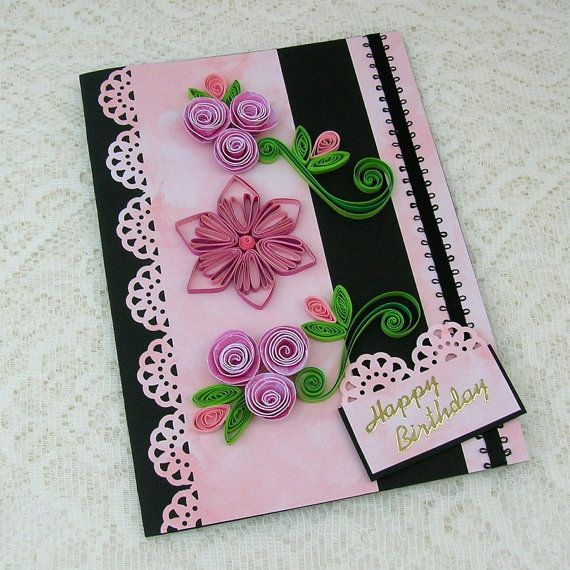 Paper Quilled Greeting Card Paper Quilling by EnchantedQuilling, $7.50