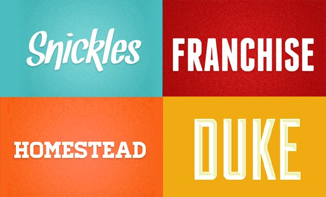 24 Professional Free Fonts for Graphic and Web designers