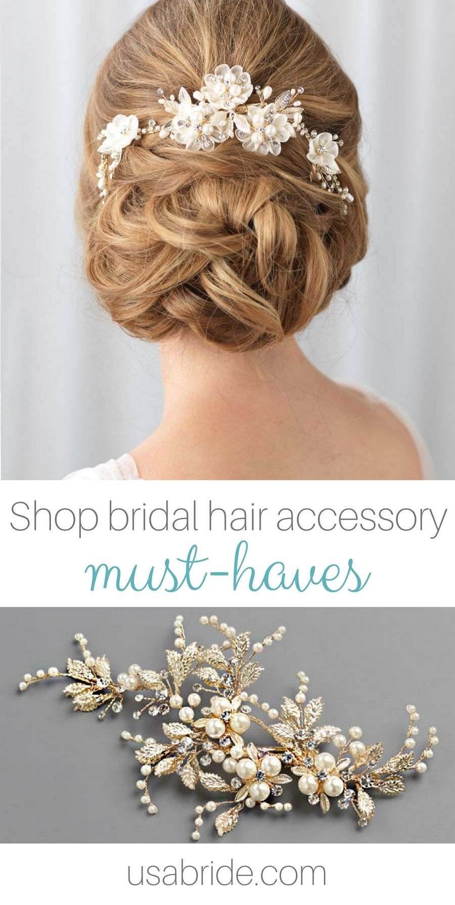 Find the perfect hair accessory for your wedding day hairstyles
