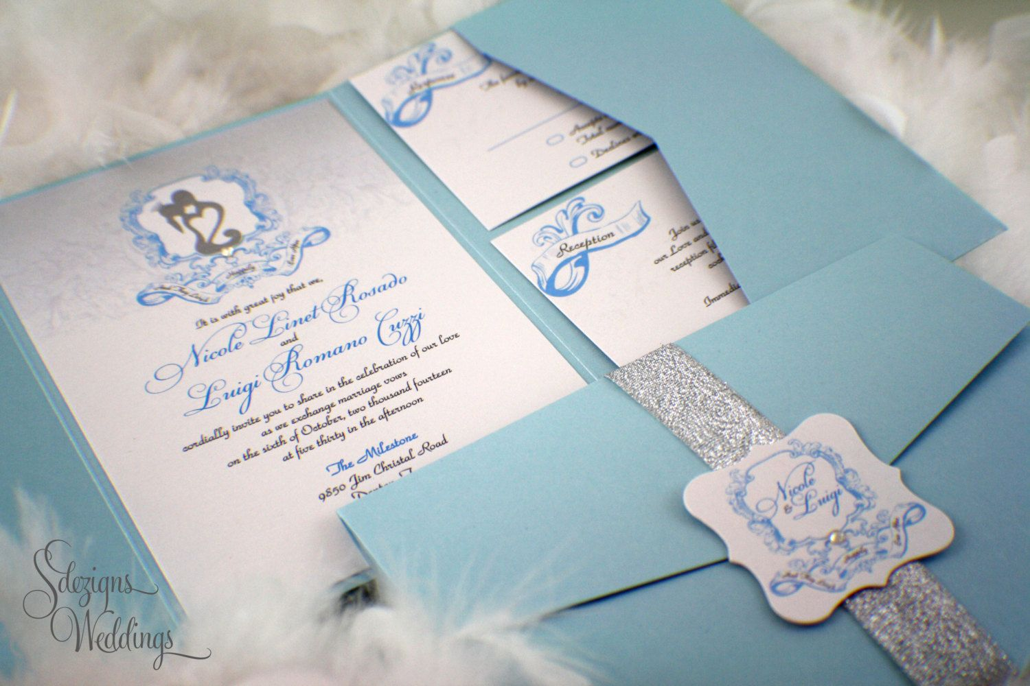 17 Best images about Invitations – Cinderella Wedding Invitation