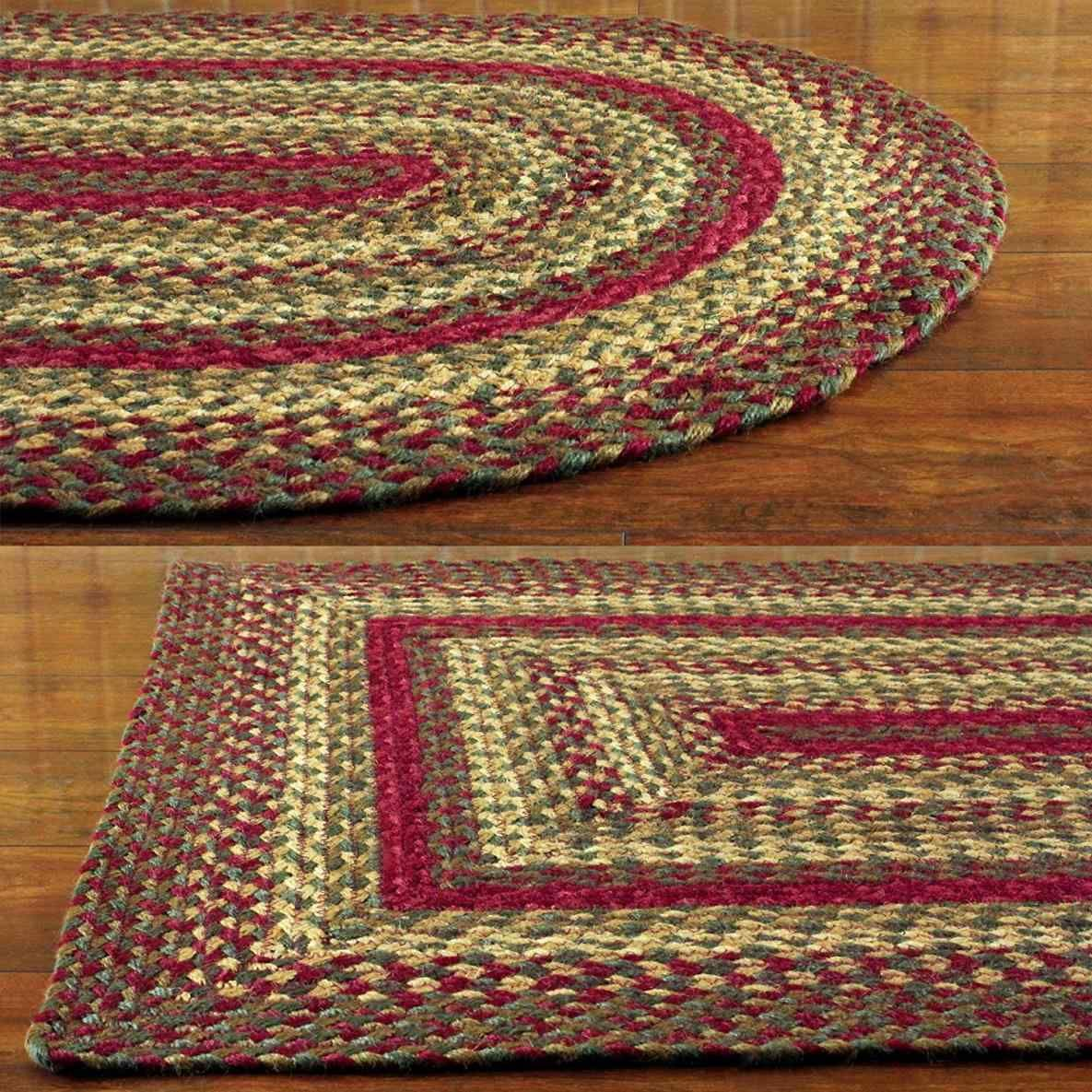 Green Rugs For Sale Braided area rugs, Braided jute rug