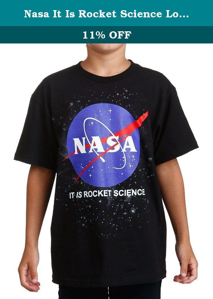 NASA Logo Black Youth T-Shirt