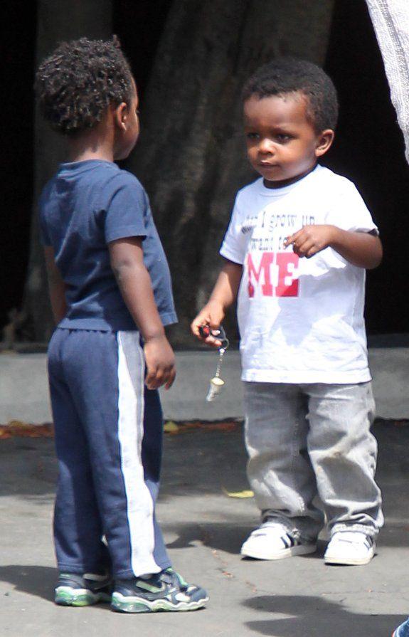 Cute Kid Alert: Louis And His BFF & Damon Dash and Rachel