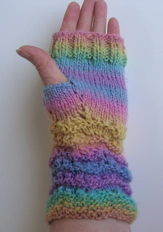 Mochi Plus Fingerless Gloves - Crystal Palace Yarns - free knit ...