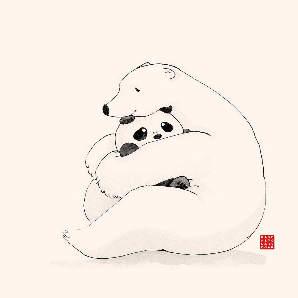 Bear Hug by Panda And Polar Bear   we bare bears   Pinterest   Osos ...