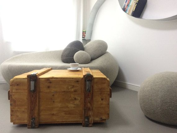 Wooden Trunk Chest Ottoman Storage Blanket Box TV Cabinet Bedding ...