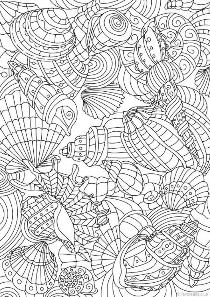 Summertime Bundle 10 Printable Adult Coloring Pages from