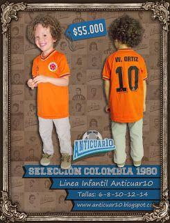Anticuar10: Linea Infantil - Camiseta RETRO Willington Ortiz S...