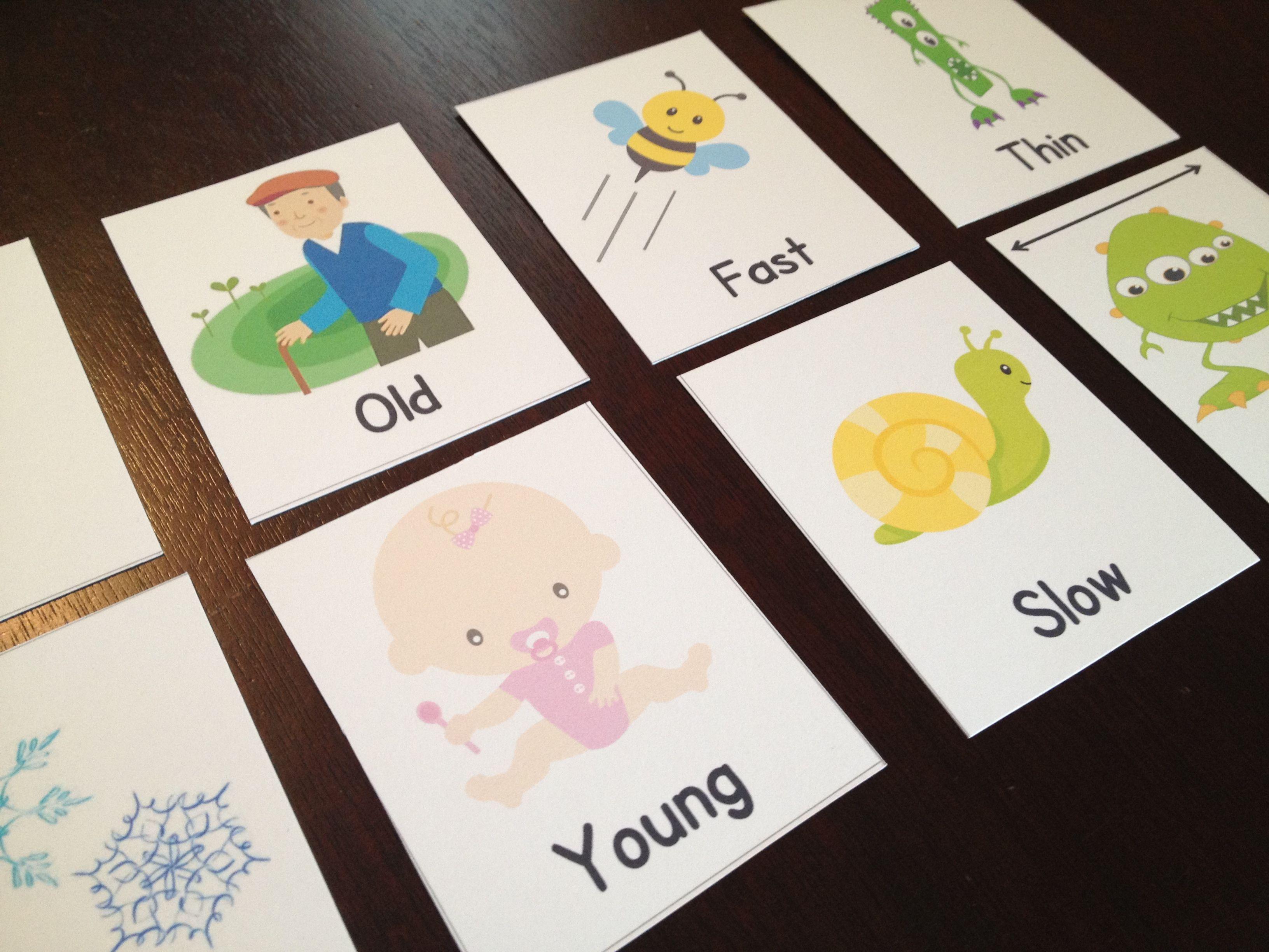 Teaching Kids Opposite Words The Opposite Game Synonymantonym
