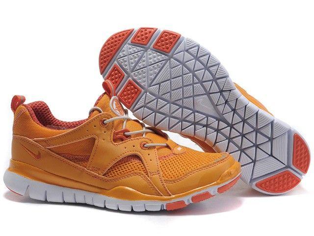 Nike Free 2011 uddannelse af Dame appelsin hvide sko
