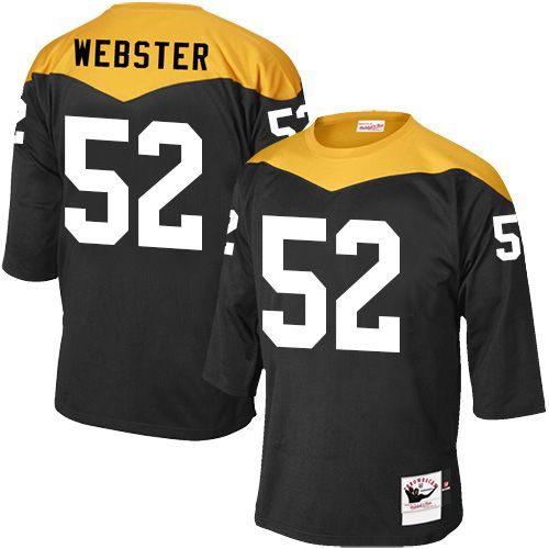 bf1c9b966bc Mike Webster Men s Elite Black Jersey  Nike NFL Pittsburgh Steelers Home   52 1967 Throwback