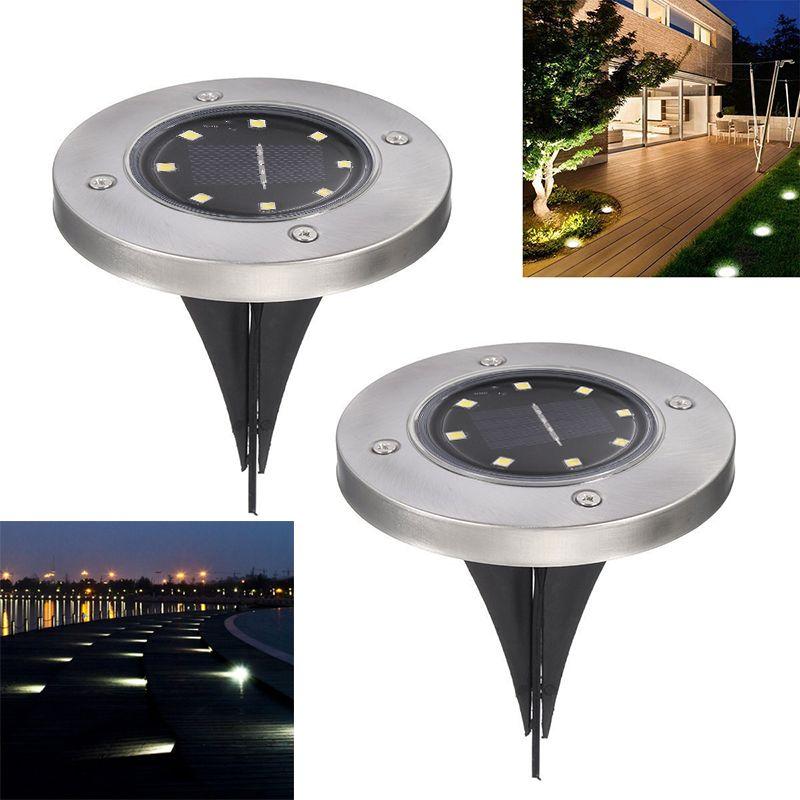 Solarbetriebene Boden Licht Wasserdicht Garten Pathway Deck Lichter