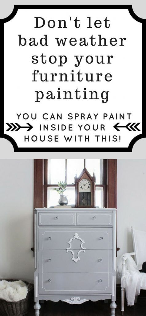 How To Spray Paint Furniture Indoors