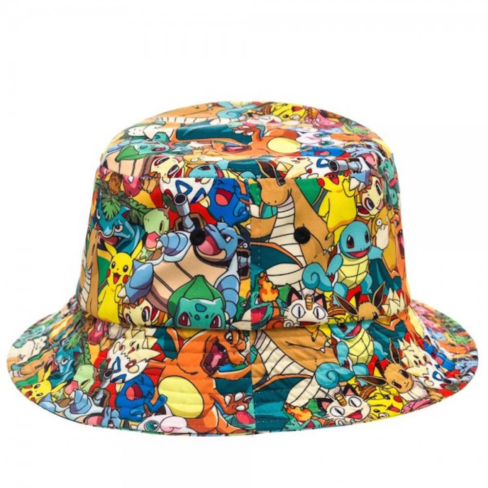 f50c6f23a199c Pokemon Multi Characters All Over Print Bucket Cap Hat New Licensed   Bioworld  Bucket