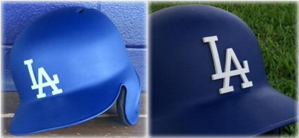 3ders.org - LA Dodgers make MLB history with 3D printed helmet logos | 3D Printer News & 3D Printing News
