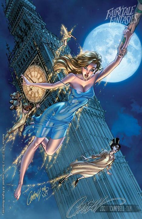 Wendy flying to never land.