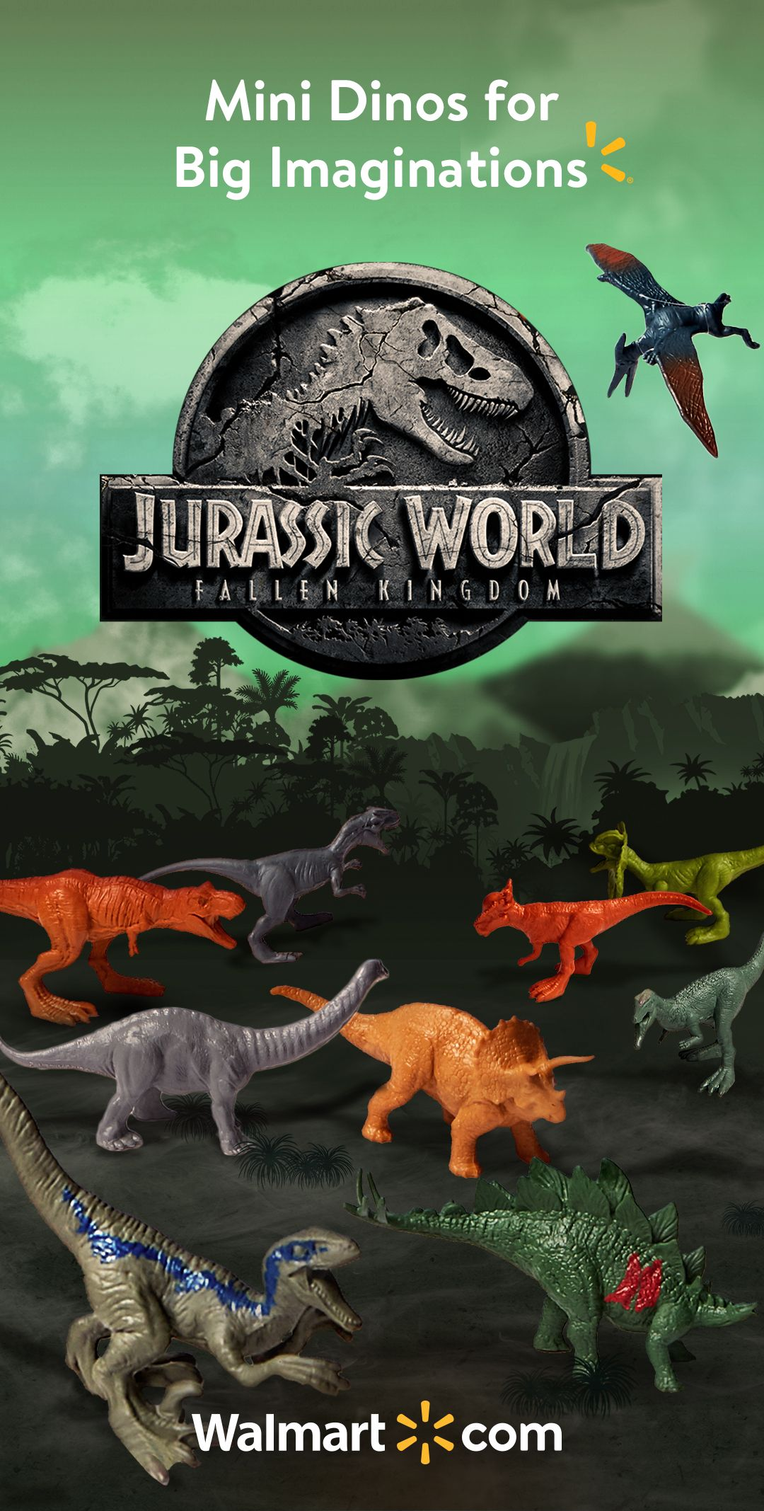 Rule Your Own Jurassic World Fallen Kingdom With The Mini Dino 15 Pack Only At Walmart