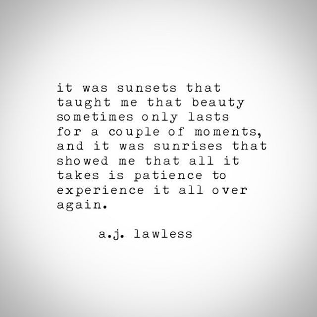It was sunsets that taught me that beauty sometimes only